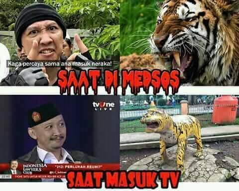 Meme Abu Janda Viral, di Sosial Media Garang, di ILC bak Macan Tanpa Taring