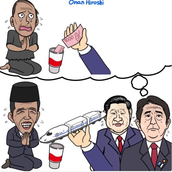 Komika Jepang Sindir Jokowi sebagai 'Pengemis' dalam Proyek Kereta Cepat