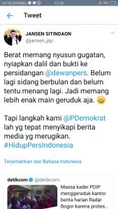 PDIP Seruduk Kantor Radar Bogor, Begini Sindiran Demokrat