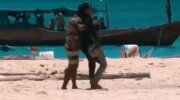 Potongan video bentrokan dua warga pulau di Makassar. (Ist)